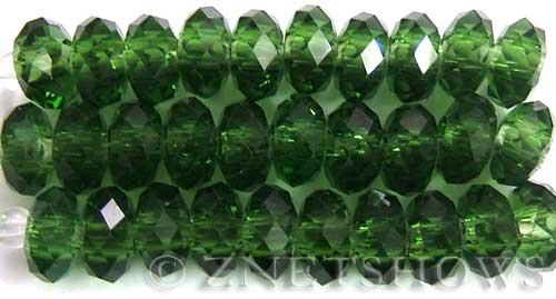 Tiaria Glass Crystal 25-Shamrock rondelle Beads <b>14x10mm</b> faceted 5mm large hole    per   <b> 10-pc-str</b>