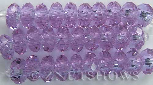Tiaria Glass Crystal 39-Periwinkle Changes rondelle Beads <b>14x10mm</b> faceted 5mm large hole    per   <b> 10-pc-str</b>