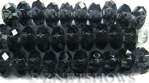 Tiaria Glass Crystal 33AB-Royal Blue AB rondelle Beads <b>14x10mm</b> faceted 5mm large hole    per   <b> 10-pc-str</b>
