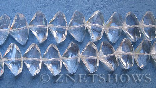 Tiaria Glass Crystal 01-Crystal axe Beads <b>20x15mm </b> faceted     per   <b> 18-pc-str</b>