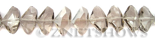 Tiaria Glass Crystal 69-Tan Color axe Beads <b>20x15mm </b> faceted     per   <b> 18-pc-str</b>