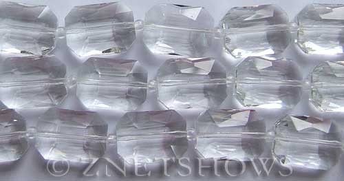 Tiaria Glass Crystal 01-Crystal rectangle Beads <b>18x13mm</b> faceted     per   <b> 8-in-str (12-pc-str)</b>