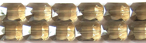 Tiaria Glass Crystal 69-Tan Color rectangle Beads <b>18x13mm</b> faceted     per   <b> 8-in-str (12-pc-str)</b>