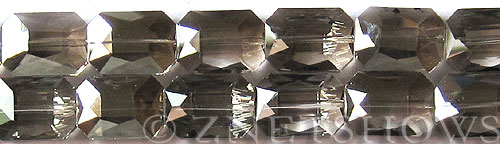 Tiaria Glass Crystal 70-Dark Tan Color rectangle Beads <b>18x13mm</b> faceted     per   <b> 8-in-str (12-pc-str)</b>
