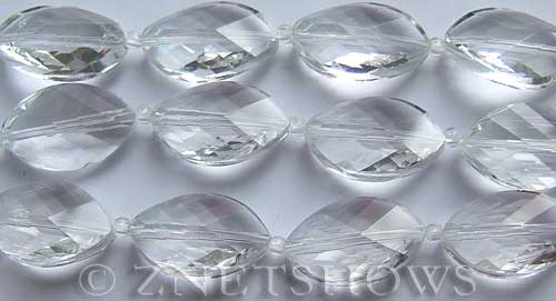 Tiaria Glass Crystal 01-Crystal marquise spindle Beads <b>21x13mm</b> faceted     per   <b> 8-in-str (10-pc-str)</b>
