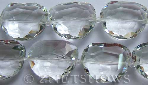Tiaria Glass Crystal 01-Crystal kidney Pendants <b>28x22mm</b> faceted half-moon    per   <b> 8-in-str (7-pc-str)</b>
