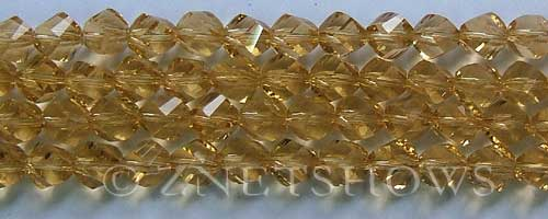 Tiaria Glass Crystal 10-Sunglow twist Beads <b>8mm</b> faceted     per   <b> 8-in-str (27-pc-str)</b>