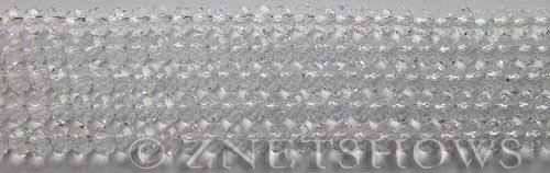 Tiaria Glass Crystal 01-Crystal rondelle Beads <b>4x3mm</b> faceted     per   <b> 10-str-hank (50-pc-str)</b>