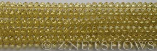 Tiaria Glass Crystal 10-Sunglow rondelle Beads <b>4x3mm</b> faceted     per   <b> 10-str-hank (50-pc-str)</b>