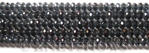 Tiaria Glass Crystal 116-Heliotrope Purple rondelle Beads <b>4x3mm</b> faceted     per   <b> 10-str-hank (50-pc-str)</b>