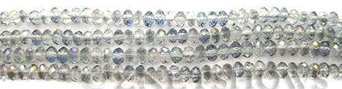Tiaria Glass Crystal 121-Half Heliotrope rondelle Beads <b>4x3mm</b> faceted     per   <b> 10-str-hank  (50-pc-str)</b>