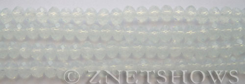 Tiaria Glass Crystal 86-Moonstone Opal rondelle Beads <b>6x4mm</b> faceted     per   <b> 10-str-hank (50-pc-str)</b>