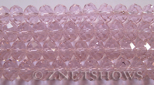 Tiaria Glass Crystal 06-Blossom Pink rondelle Beads <b>12x8mm</b> faceted     per   <b> 5-str-hank (24-pc-str)</b>