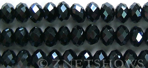 Tiaria Glass Crystal 100-Hematite rondelle Beads <b>12x8mm</b> faceted     per   <b> 5-str-hank (24-pc-str)</b>