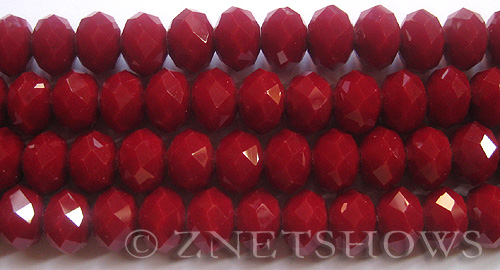 Tiaria Glass Crystal 49-Ruby Red rondelle Beads <b>12x8mm</b> faceted     per   <b> 5-str-hank (24-pc-str)</b>