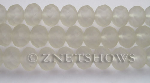 Tiaria Glass Crystal 01-Crystal rondelle Beads <b>14x10mm</b> faceted Matte    per   <b> 8-in-str</b>