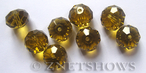 Tiaria Glass Crystal 16-Desert Gold rondelle Beads <b>14x10mm</b> faceted     per   <b> 10-pc-bag</b>