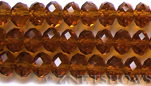 Tiaria Glass Crystal 18-Mocha rondelle Beads <b>14x10mm</b> faceted     per   <b> 12-Piece-Strand</b>