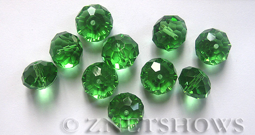 Tiaria Glass Crystal 25-Shamrock rondelle Beads <b>14x10mm</b> faceted     per   <b> 12-Piece-Strand</b>