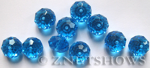 Tiaria Glass Crystal 30-Pacific Blue rondelle Beads <b>14x10mm</b> faceted aqua color    per   <b> 12-Piece-Strand</b>