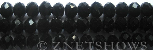 Tiaria Glass Crystal 02-Jet Black rondelle Beads <b>10x8mm</b> faceted  J-2    per   <b> 10-str-hank</b>