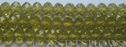 Tiaria Glass Crystal 10-Sunglow rondelle Beads <b>10x8mm</b> faceted  J-23    per   <b> 10-str-hank</b>