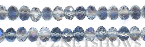 Tiaria Glass Crystal 121-Half Heliotrope rondelle Beads <b>10x8mm</b> faceted     per   <b> 10-str-hank</b>