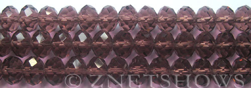 Tiaria Glass Crystal 37-Medium Amethyst rondelle Beads <b>10x8mm</b> faceted  J-21    per   <b> 10-str-hank</b>