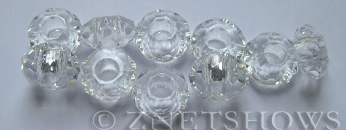 Tiaria Glass Crystal 01-Crystal rondelle Beads <b>14x8mm</b> faceted 5mm large hole    per   <b> 10-pc-bag</b>
