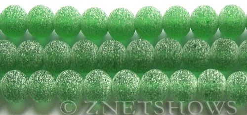 Tiaria Glass Crystal 25-Shamrock rondelle Beads <b>10x8mm</b> matte finished     per   <b> 10-str-hank (28-pc-str)</b>
