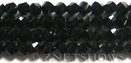 Tiaria Glass Crystal 02-Jet Black twist Beads <b>10mm</b> faceted     per   <b> 20-pc-str</b>