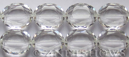 Tiaria Glass Crystal 01-Crystal oval Beads <b>25x18mm</b> faceted     per   <b> 8-in-str (8-pc-str)</b>