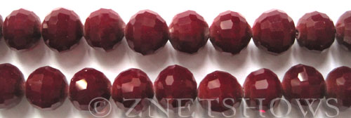 Tiaria Glass Crystal 49-Ruby Red round Beads <b>12mm</b> faceted     per   <b> 8-in-str (20-pc-str)</b>