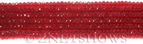 Tiaria Glass Crystal 04-Light Cherry rondelle Beads <b>3x2mm</b> faceted     per   <b> 100-pc-str</b>