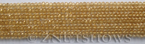Tiaria Glass Crystal 11-Gold Champagne rondelle Beads <b>3x2mm</b> faceted     per   <b> 100-pc-str</b>