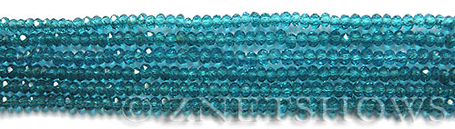 Tiaria Glass Crystal 82-Teal rondelle Beads <b>3x2mm</b> faceted     per   <b> 100-pc-str</b>