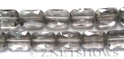 Tiaria Glass Crystal 70-Dark Tan Color rectangle Beads <b>27x18mm</b> faceted     per   <b> 6-pc-str</b>