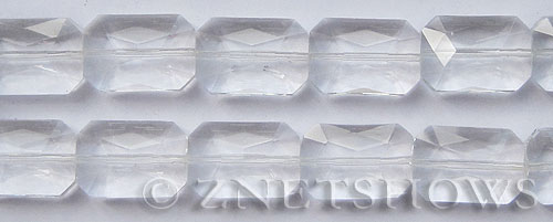 Tiaria Glass Crystal 01-Crystal rectangle Beads <b>20x14mm</b> faceted     per   <b> 10-pc-str</b>