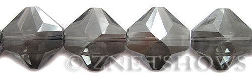 Tiaria Glass Crystal 70-Dark Tan Color diamond Beads <b>22x22mm</b> faceted     per   <b> 10-pc-str	</b>