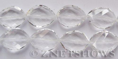 Tiaria Glass Crystal 01-Crystal oval Beads <b>25x18mm</b> twisted     per   <b> 7-pc-str</b>
