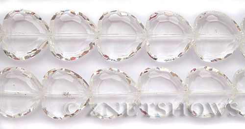 Tiaria Glass Crystal 01-Crystal heart Beads <b>22mm </b> faceted     per   <b> 10-pc-str </b>