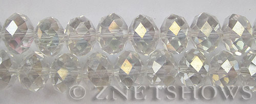 Tiaria Glass Crystal 01AB-Crystal AB rondelle Beads <b>16x12mm </b> faceted     per   <b> 12-pc-str </b>