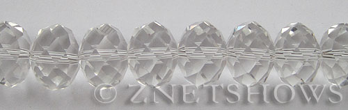 Tiaria Glass Crystal 01-Crystal rondelle Beads <b>18x13mm </b> faceted     per   <b> 10-pc-str </b>