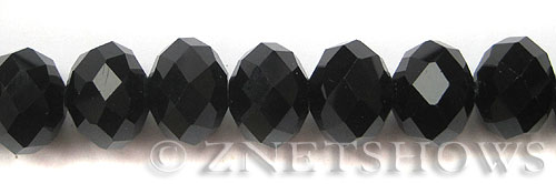 Tiaria Glass Crystal 02-Jet Black rondelle Beads <b>18x13mm </b> faceted     per   <b> 10-pc-str </b>