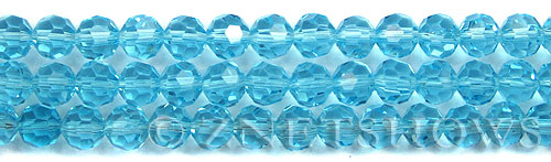 Tiaria Glass Crystal 29-Barbados Blue round Beads <b>8mm</b> faceted     per   <b> 10-str-hank (27-pc-str)</b>