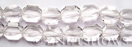 Tiaria Glass Crystal 01-Crystal octagon Beads <b>18x15mm</b> faceted     per   <b> 8-in-str	 (11-pc-str)</b>