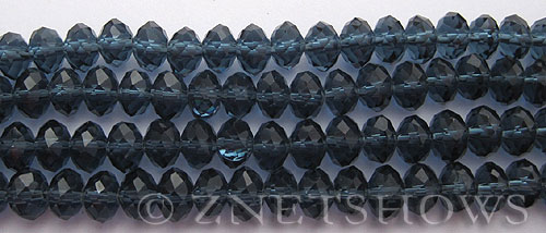 Tiaria Glass Crystal 77-Midnight Blue rondelle Beads <b>8x5mm</b> faceted     per   <b> 8-in-str</b>
