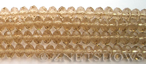 Tiaria Glass Crystal Darker Tan rondelle Beads <b>8x5mm</b> faceted   per   <b> 8-in-str</b>