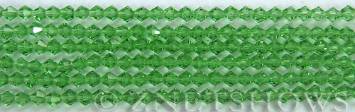 Tiaria Glass Crystal 24-Pine green bicone Beads <b>4mm</b> faceted     per   <b> 8-in-str (50-pc-str)</b>
