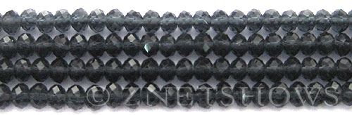 Tiaria Glass Crystal 87-Montana Blue rondelle Beads <b>6x4mm</b> faceted     per   <b> 8.5-in-str (50-pc-str)</b>